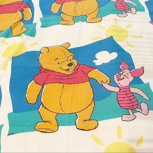 Vintage Winnie The Pooh Disney Full Flat Sheet
